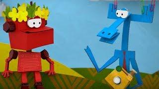 Бумажки -Сборник серий 55 -60 - мультфильм про оригами для детей