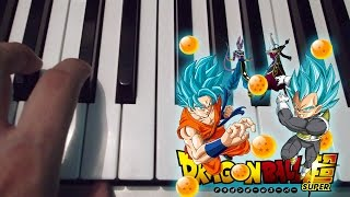 Dragon Ball Super OP 1 /  Chozetsu Dynamic  / Piano / Tutorial / Notas Musicales / Cover
