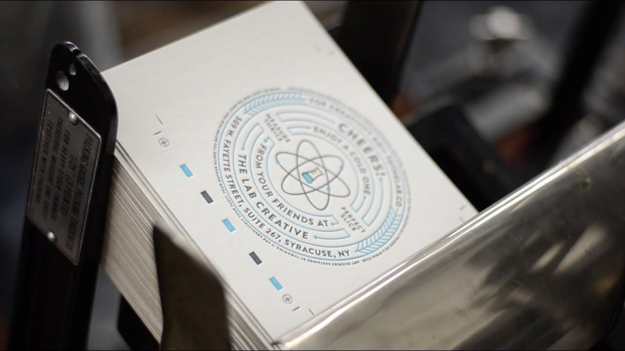 Printing letterpress coaster cards youtube printing letterpress coaster cards reheart Choice Image