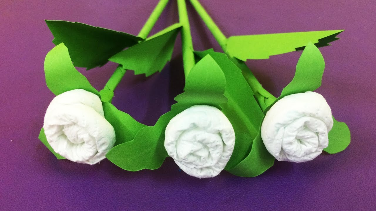 How To Make Tissue Paper Flower Making Paper Flowers Step By Step