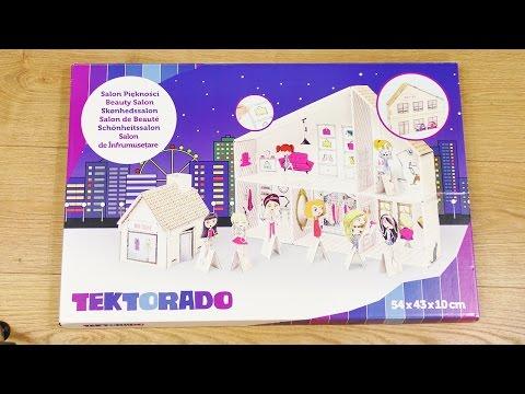 XXL Beauty Salon | Unboxing | Tektorado großes Haus zum selber bauen mit vielen Stickern
