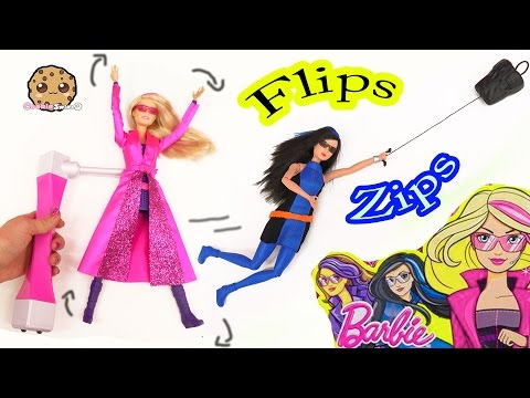 Barbie Spy Squad Movie Flip & Zip Action Dolls Secret Agents Unboxing Toy Video - Cookie Swirl C