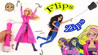 Barbie Spy Squad Movie Flip & Zip Action Dolls Secret Agents Unboxing Toy Video - Cookie Swirl C