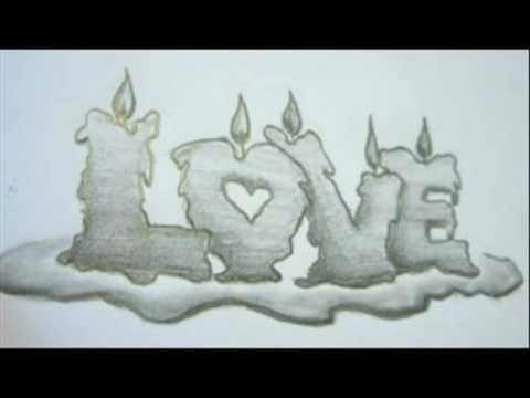 How To Draw LOVE Letters - Memorial Ideas - Memorial Drawings - YouTube