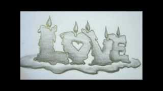 How To Draw LOVE Letters - Memorial Ideas -  Memorial Drawings
