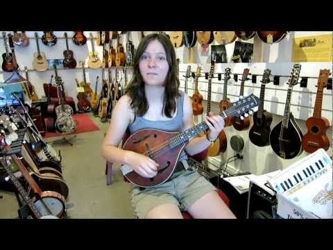 Pepi plays an Eastman mandolin