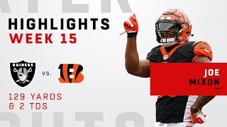 Joe Mixon's Massive Day w/ 129 Yards & 2 TDs vs. Raiders