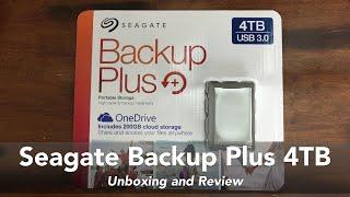 Seagate Backup Plus 4TB USB 3.0 Portable Storage
