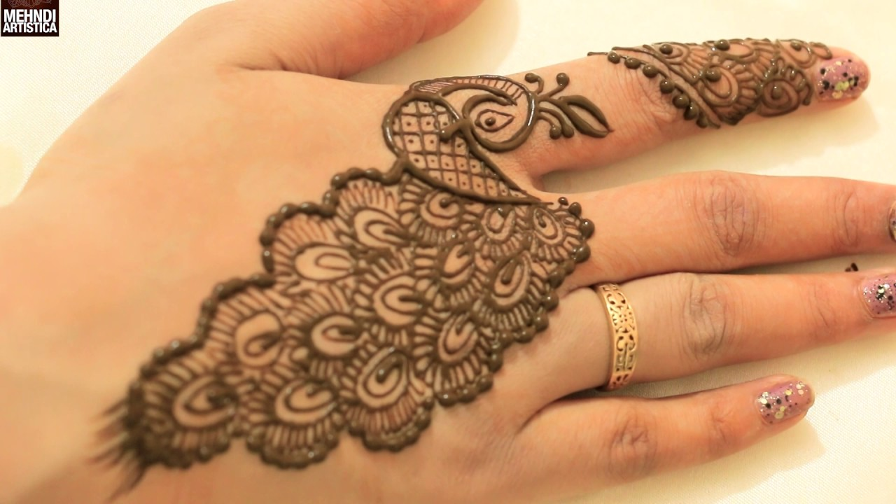 Mehndi design 2017 peacock - 2017 Easy Stylish Peacock Designs For Beginners Learn To Draw Mehendhi Step By Step