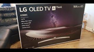 2018 LG OLED65B8SLC Unboxing and setup with Retail Demo OLED65B