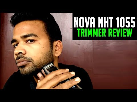 Nova NHT 1055 Trimmer Review Live | Budget Beard Trimmer for men in India