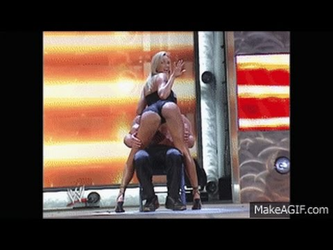Stacy Keibler gives Scott Steiner a lap dance!