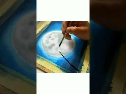 Watercolor Night Painting / Watercolor Drawing / Watercolour / Easy Night Scenery / Painting #shorts