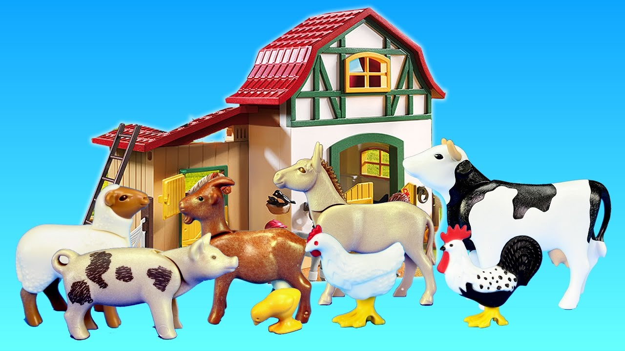 Best Farm Animal Toys For Toddlers : Playmobil farm animals toys barn building sets videos
