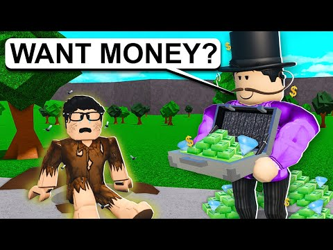 The HOMELESS CHILD Became A TRILLIONAIRE! (Roblox Bloxburg)