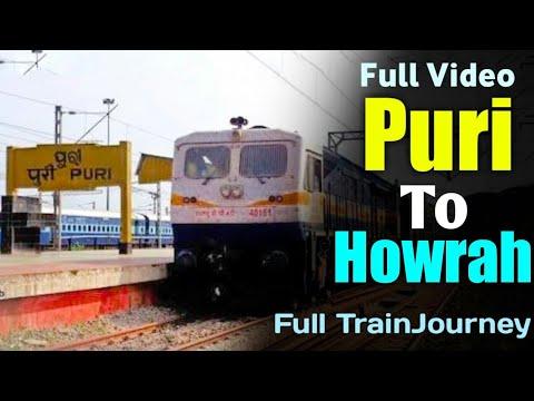 PURI TO HOWRAH FULL TRAIN JOURNEY AT MOONSOON | TRAIN TRAVEL IN INDIA