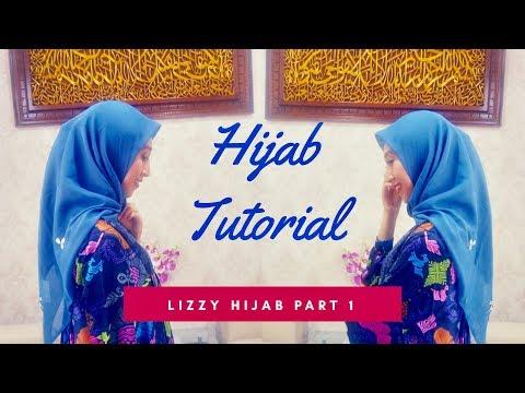 TUTORIAL HIJAB SEGI EMPAT  Part 1 - YouTube
