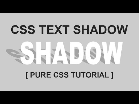 Pure Css TEXT Effect - Text Shadow - Paper Cut Out Letters