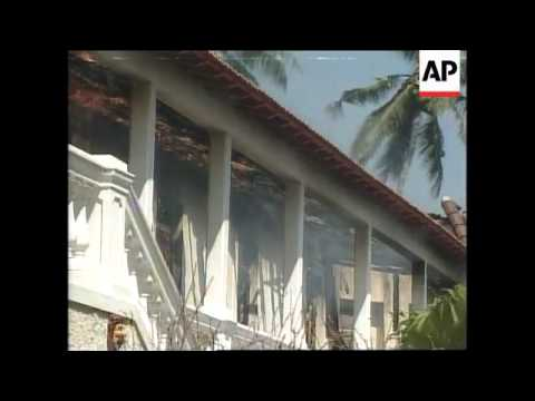 EAST TIMOR: FORMER GOVERNMENT GUEST HOUSE SET ON FIRE