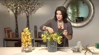 Flower Arranging With Orchids- Simple & Stylish
