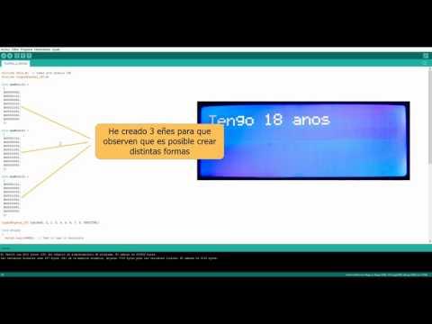 Arduino - Mostrar ñ, acentos y símbolos personalizados en LCD 20x4