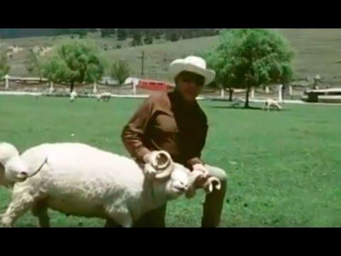 Cantinflas en su hacienda La Purísima, Ixtlahuaca México - El rancho de Mario Moreno (1977)