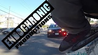 Stunt Bike vs Charger Cop Car!