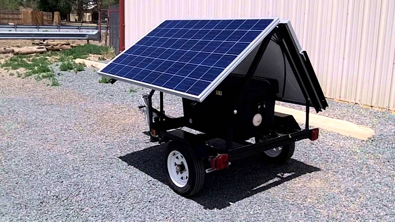 Portable Trailer Mounted Solar System Youtube