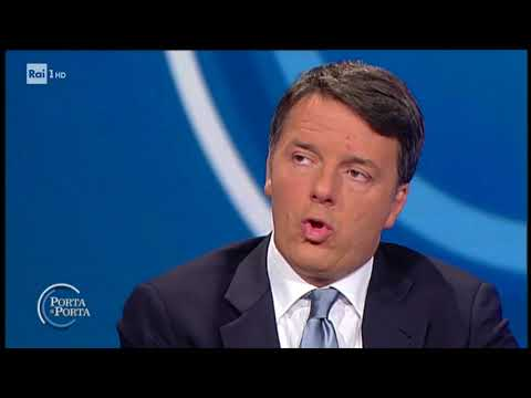 Matteo Renzi a Porta a Porta 21 novembre 2017