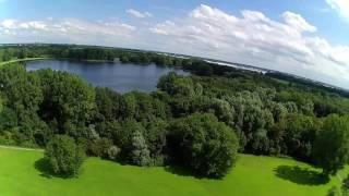 Drone flight Delft, City park