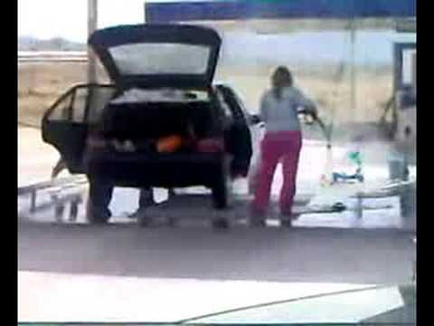 Dumb Woman Washing Her Car Inside Youtube