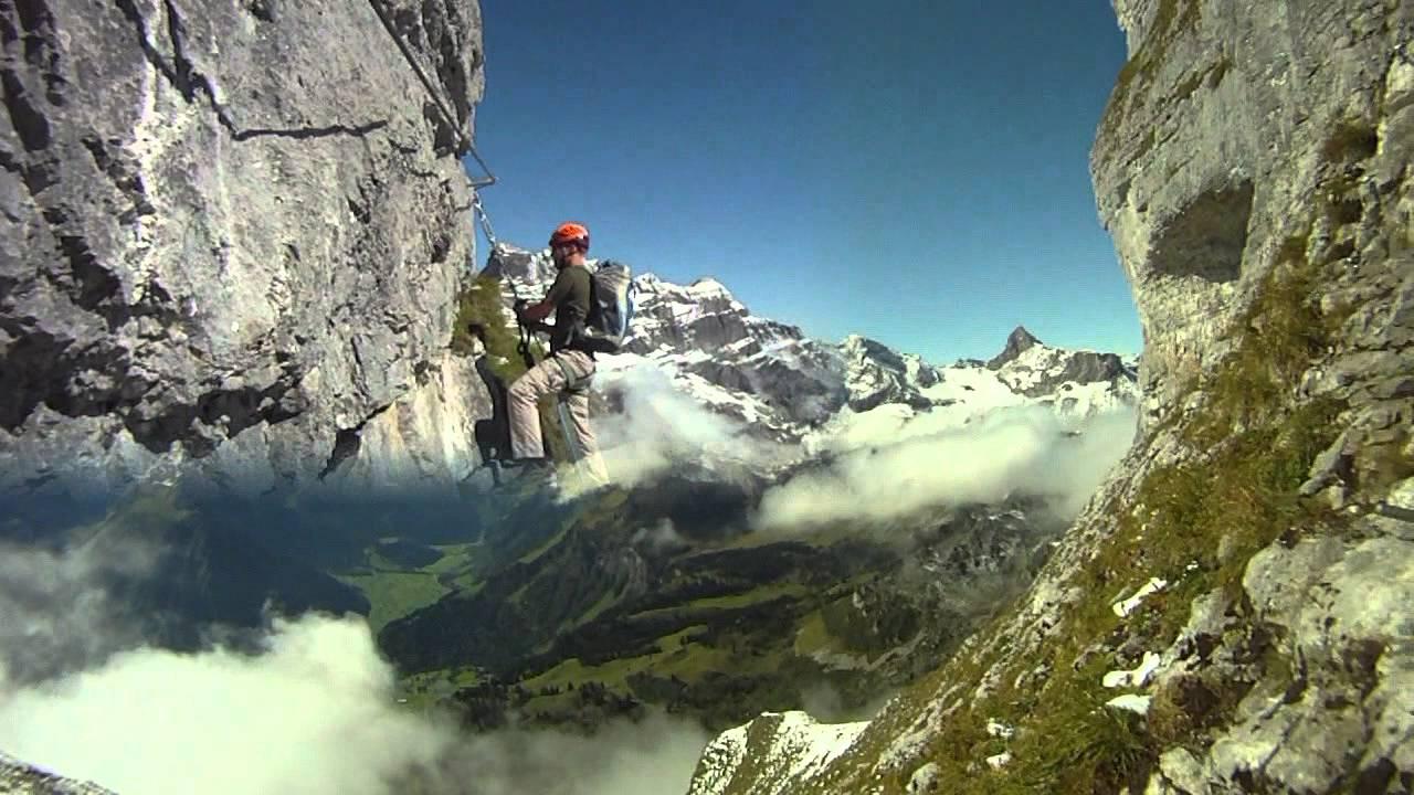 Klettersteig Uk : Braunwald klettersteig youtube