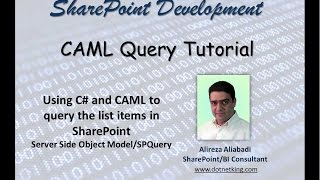 Using C# and CAML to query the list items in SharePoint - SPQuery