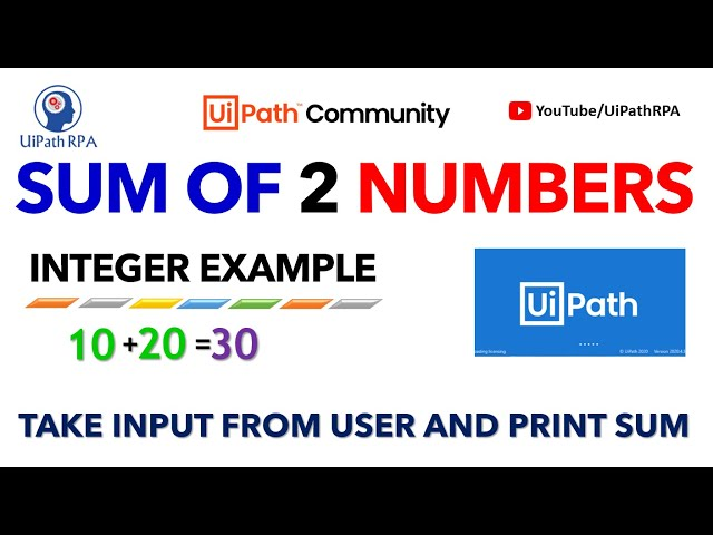 Sum of two values in UiPath |UiPath RPA Tutorial in Hindi