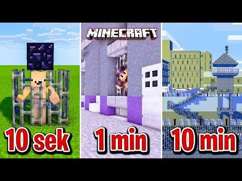 Minecraft BUDUJĘ WIĘZIENIE W 10 SEKUND, 1 MINUTĘ I 10 MINUT!