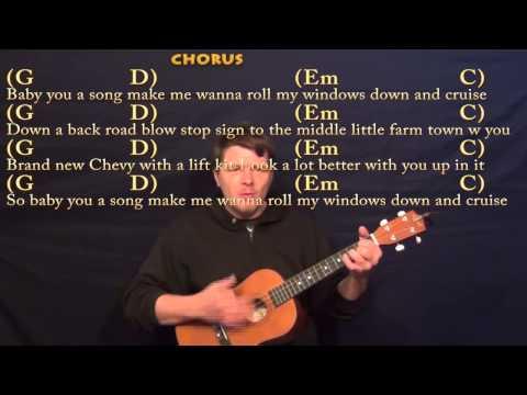 Cruise (FLORIDA GEORGIA LINE) Easy Baritone Ukulele Cover Lesson with Chords and Lyrics