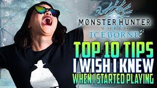 10 TIPS I WISH I KNEW! Starting Monster Hunter World | Newbie Guide For MHW