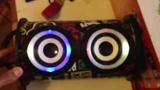 MP3 Lonf P01 Магнитола mp3 плеер бумбокс цветомузыка