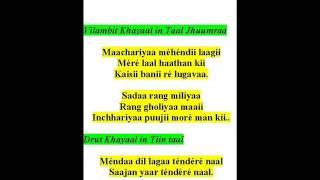 ramkrishna das sings khayaals- raag raam kalii -maachhariyaa mehendii laagii, mendaa dil lagaa