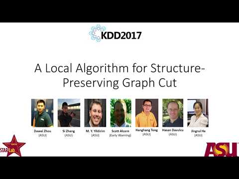 A Local Algorithm for Structure-Preserving Graph Cut