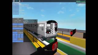 {ROBLOX} Coney Island bound R160B Q Train arriving/Leaving Astoria BLVD