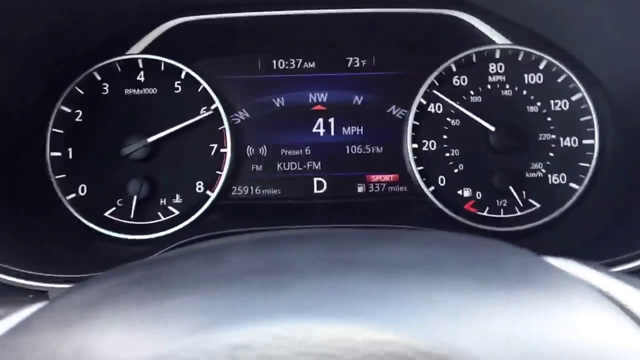 2017 nissan maxima pov 0-60 (0-85) in sport mode traction on (cvt