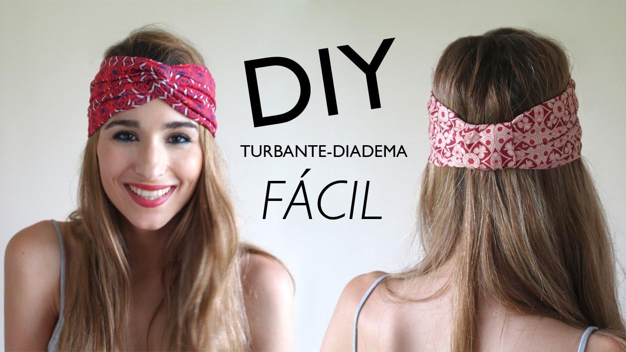 Diy c mo hacer turbantes diadema con y sin m quina de for Diademas de tela para el cabello