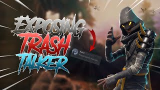 Exposing Trash Talker | Fortnite Mobile | Trash Talker Gets Destroyed!