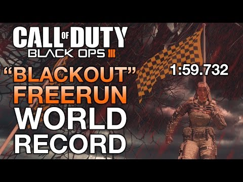 "Black Ops 3 Freerun ""Blackout"" WORLD RECORD TIME (1:59.7) Shortcuts & Tips"