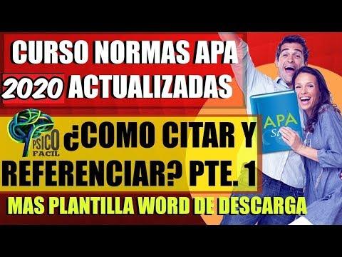 CÓMO usar NORMAS APA en WORD 2017 SEXTA EDICIÓN. CITAS y REFERENCIAS BIBLIOGRÁFICAS de YouTube · Duración:  11 minutos 28 segundos
