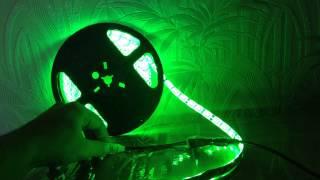 Светодиодная лента 5050 зеленый 60 диодов на метр, led strip 5050 green 60 led/m(Светодиодная лента 5050 зеленого цвета, 60 диодов на метр, влагозащита IP65, цена за 1 метр = 200р., 2014-09-16T06:50:53.000Z)