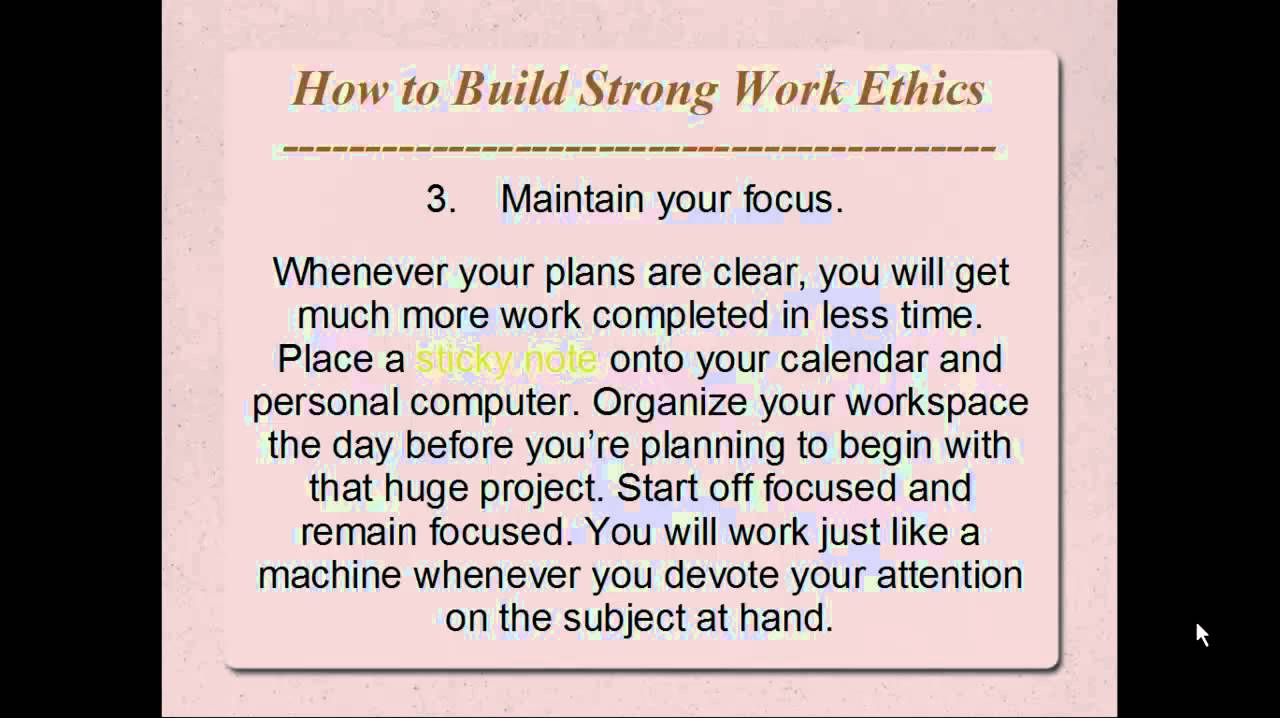 how to build strong work ethics mp how to build strong work ethics mp4