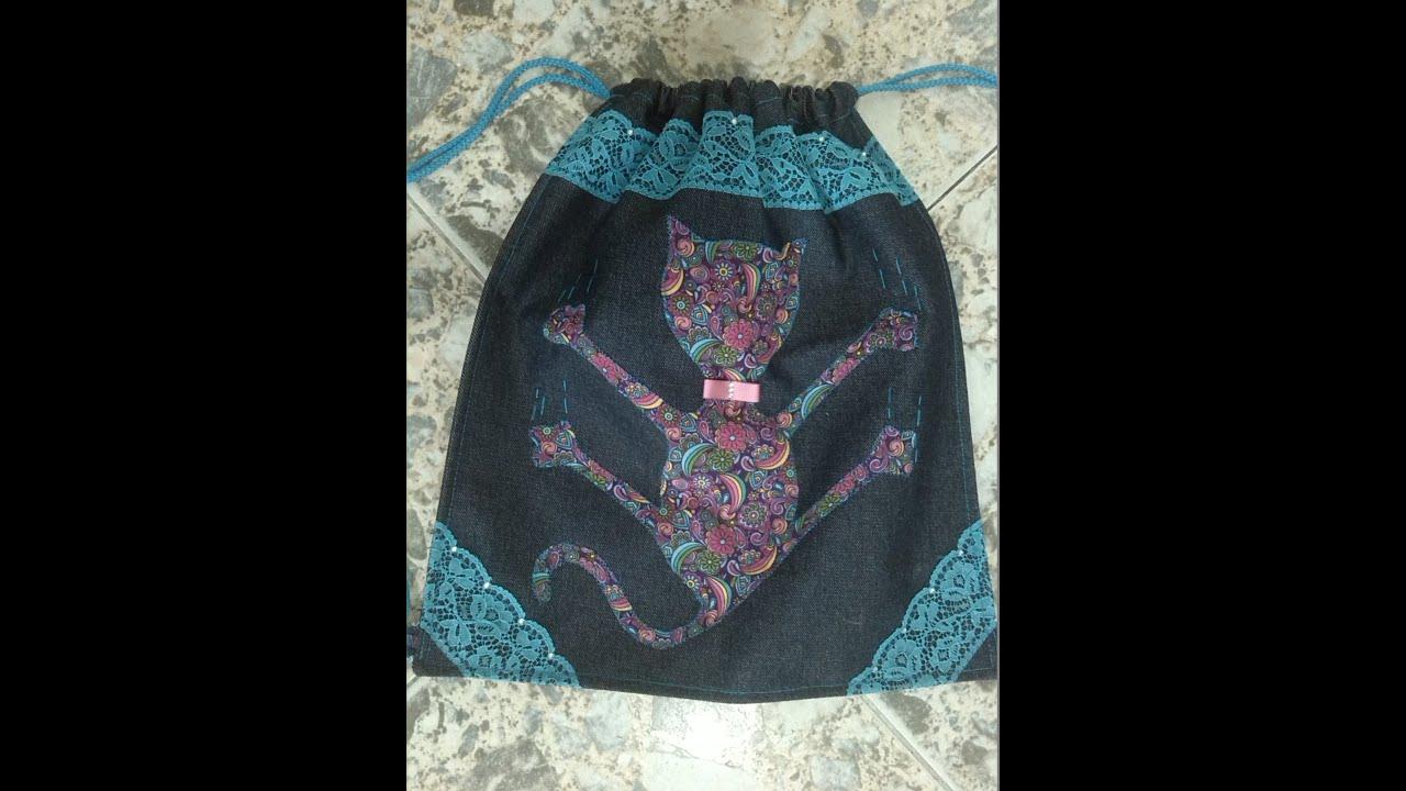 Diy como hacer mochila o tula de tela en casa youtube - Como hacer un cabecero de tela ...