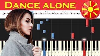 Jana Burčeska - Dance Alone - (F.Y.R) Macedonia 2017 - Piano tutorial + MIDI Mp3